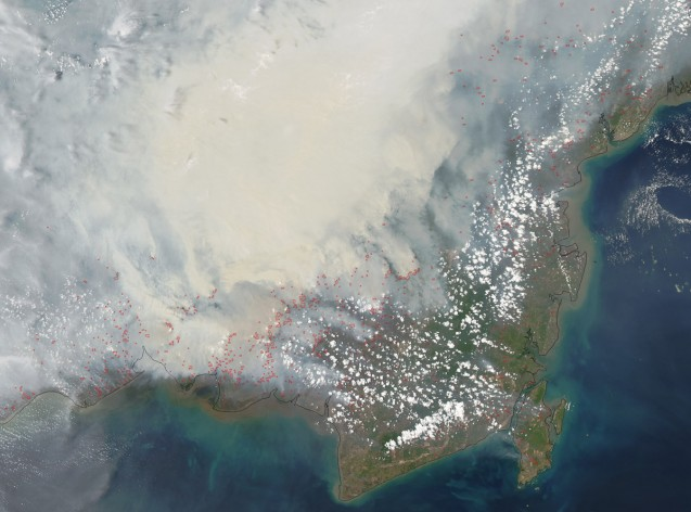 Peat fires in Indonesia